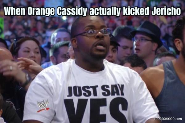 When Orange Cassidy actually kicked Jericho