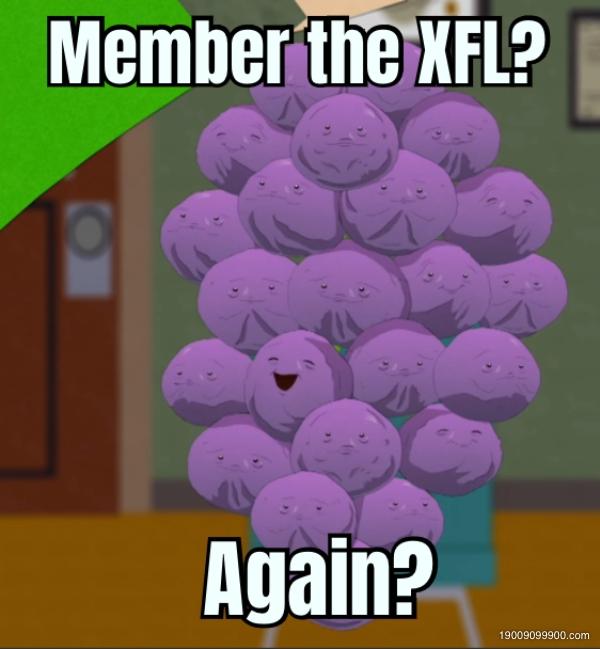 Member the XFL? Again?